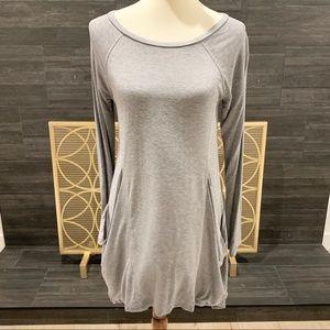 Cable & Gauge Long Sleeve T-Shirt Dress